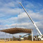 AUSPAN Roof Lift of a 24 x 18 x 5.6 Industrial Unit, Williams, WA