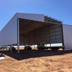 Construction of 30 x 15 x 9m Fertiliser Shed in Lake Grace, WA