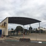 Finishing touches to the Fuel Bowser Cover for Great Southern Fuel Supplies in Katanning, WA.