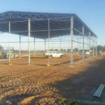 Erection of 32m(l) x 18m(w) x 6m(h) Machinery Shed in Esperance, WA