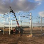 Construction of 16 x 14 x 5m Ram Shed in Broomehill, WA