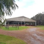 Yalambi Farm Stud riding Arena complete with garden and path