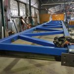 Some trusses in fabrication in the AUSPAN workshop