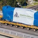 One of the Massive power generators that will be covered by an AUSPAN shed in the NT for Zenith Pacific