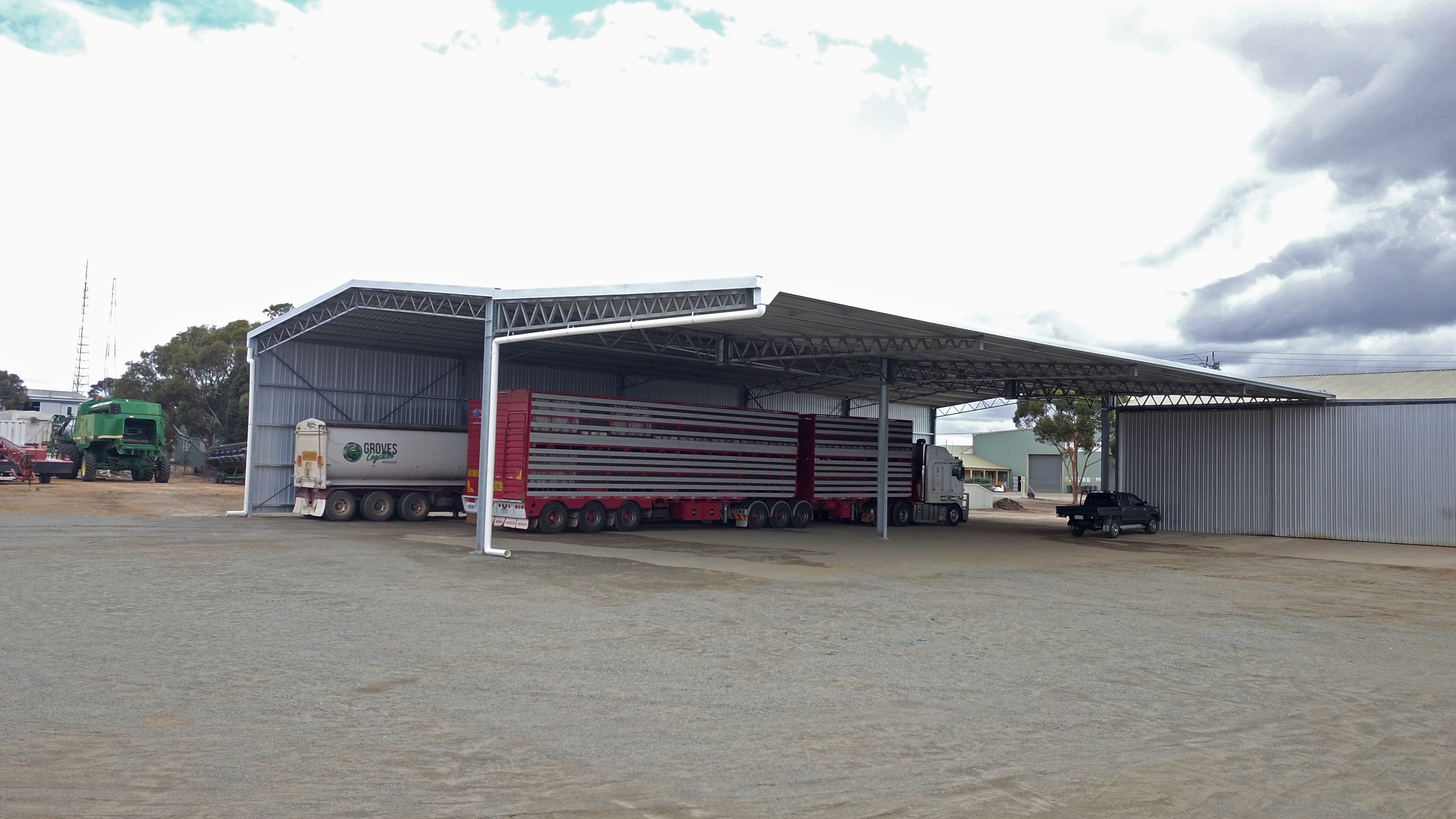 Truck Cover with an impressive Cantilever Canopy in Gnowangerup, WA