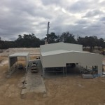 Work continues on the GD Pork processing shed in Kojonup, WA